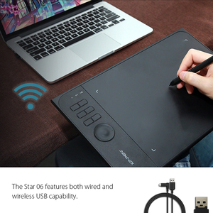 Image 3 - XP עט כוכב 06 גרפיקה ציור Tablet עם 8192 רמות לחץ Sensivity שני קוויות ואלחוטי מצב עיצוב עם רולר מפתח