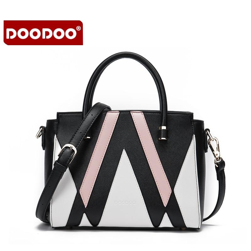 DOODOO Genuine Leather Bags For Women Tassel Designer Handbags High Quality Crossbody Women Messenger Bags Oil Wax Leather T761