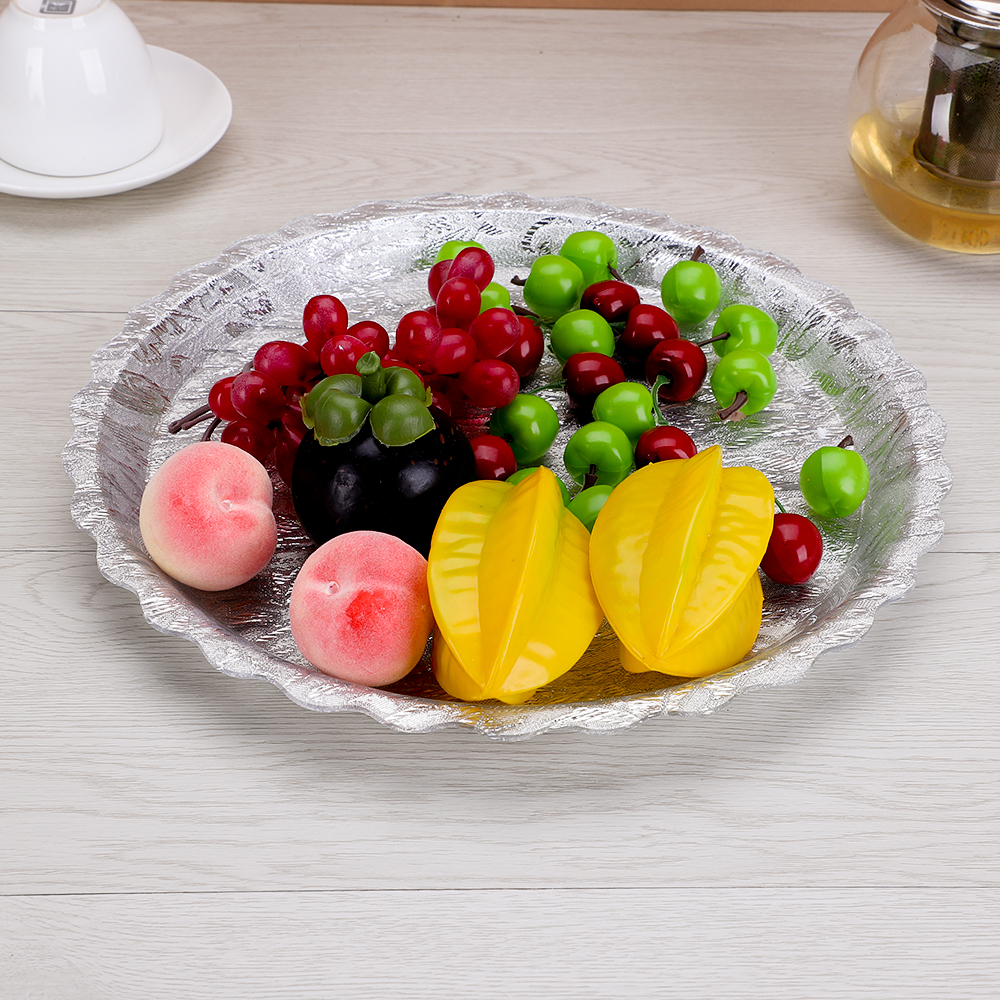 Kitchen Storage & Organization Home & Garden Stainless Steel Mirror Plate With Ear Fruit Candy Dish Tray Plate Cake Buffet Plate For Hotel Wedding Tray Dinner Gold Plate