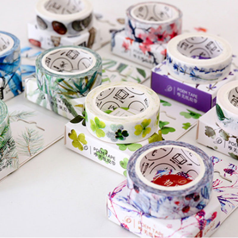 1 pcs Natural <font><b>series</b></font> 1.5 cm <font><b>X</b></font> <font><b>8</b></font> m Kawaii washi tape children like DIY Diary decoration masking tape stationery tools