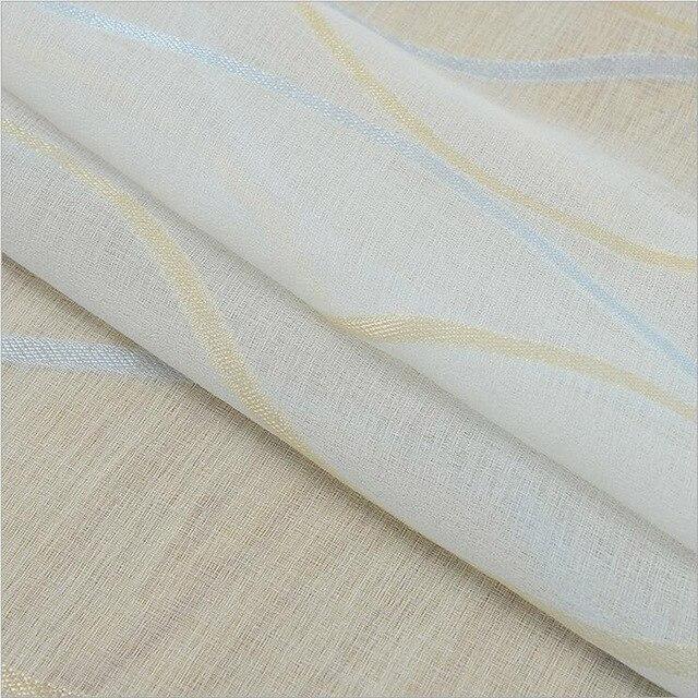 Addensare Bianco Schermi Tenda Per Soggiorno Tende Balcone Moderno A Righe Tenda Tulle Camera Da Letto Finestra Cortinas 377 & 30