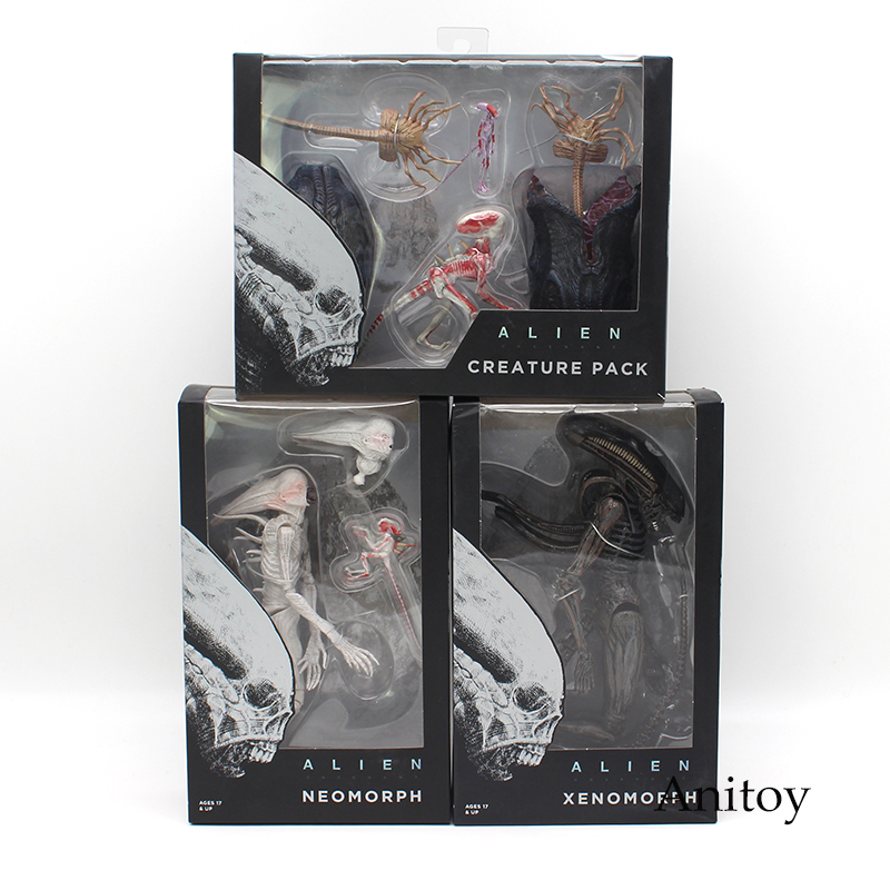 NECA ALIEN Xenomorph Neomorph Creature Pack PVC Action Figure Collectible Model Toy neca heroes of the storm dominion ghost nova pvc action figure collectible model toy 15cm