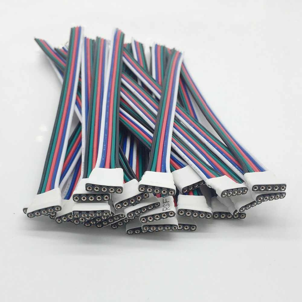 5 sztuk 4 pin/5 Pin LED kabel mężczyzna kobieta adapter złącza drutu dla 5050 3528 SMD RGB dioda LED rgbw taśmy światła RGB dioda LED rgbw Controll