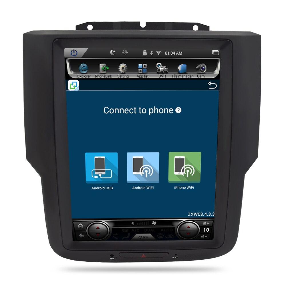 Écran Vertical Android 7.1 autoradio Navigation GPS lecteur multimédia Headunit pour Dodge Ram 2014 2015 2016 2017 Auto stéréo - 3