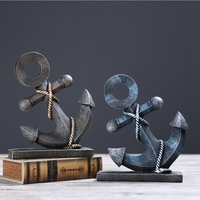 Modern Style Marine Series Rudder Ornament Creative Home Decoration Craft Personalized Anchor Model Cool Resin Kerst Decoratie