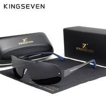 KINGSEVEN Design New Aluminum Men Brand Sunglasses  Polarized Mens Sun Glasses Integrated Lens Eyewear