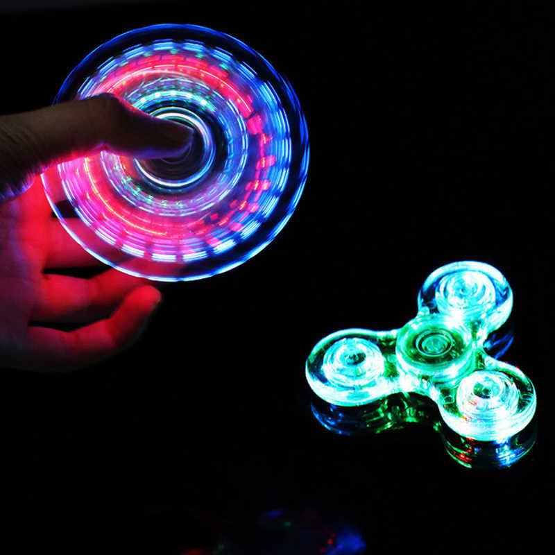 Светящийся светодиодный Спиннер Figet Spinner ручной Спиннеры-мячики Светящиеся в темноте светящиеся EDC Figet Spiner Бэтмен пальчиковые игрушки для снятия стресса