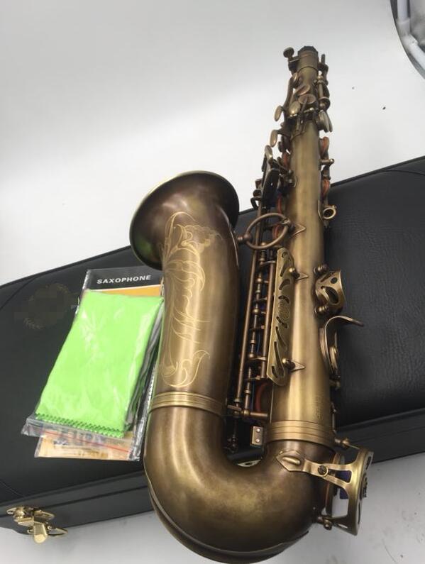 Selmer personalizado MARK VI saxofón Alto E plano antiguo cobre simulación con accesorios de carcasa instrumentos de latón saxo Alto