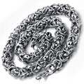 7MM Stainless Steel Silver Desigened Mens Cool Necklace HN168