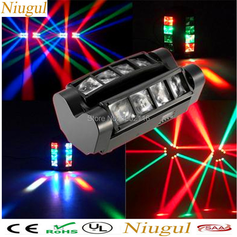 Niugul Mini LED spider light RGBW LED beam moving head light/DMX512 professional DJ equipment the spot scene Xmas holiday lights niugul 10w rgbw mini led beam moving head light 10w led beam lamp nightclub bar lights dmx512 stage effect light 10w dj lighting