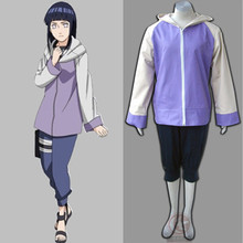 Halloween FREE SHIPPING New Top Quality Anime Naruto Cosplay Hyuga Hinata 2nd Generation Costume Suit Full Set Coat+Pants
