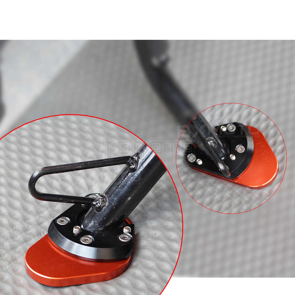 Almofadas Kickstand Bicicleta Da Sujeira Da Motocicleta Placa Pad Não-deslizamento Side Kickstand Suporte para KTM DUKE 125 200 390