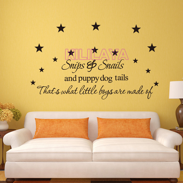 Snips Snails and Puppy Dog Tails Satrs Vinyl Wall Sticker Art ...