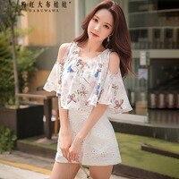Оригинал 2018 brand накидка комбинезоны дамы шаль harajuku модные белые с принтом бабочки летний плащ Комбинезоны женские оптом