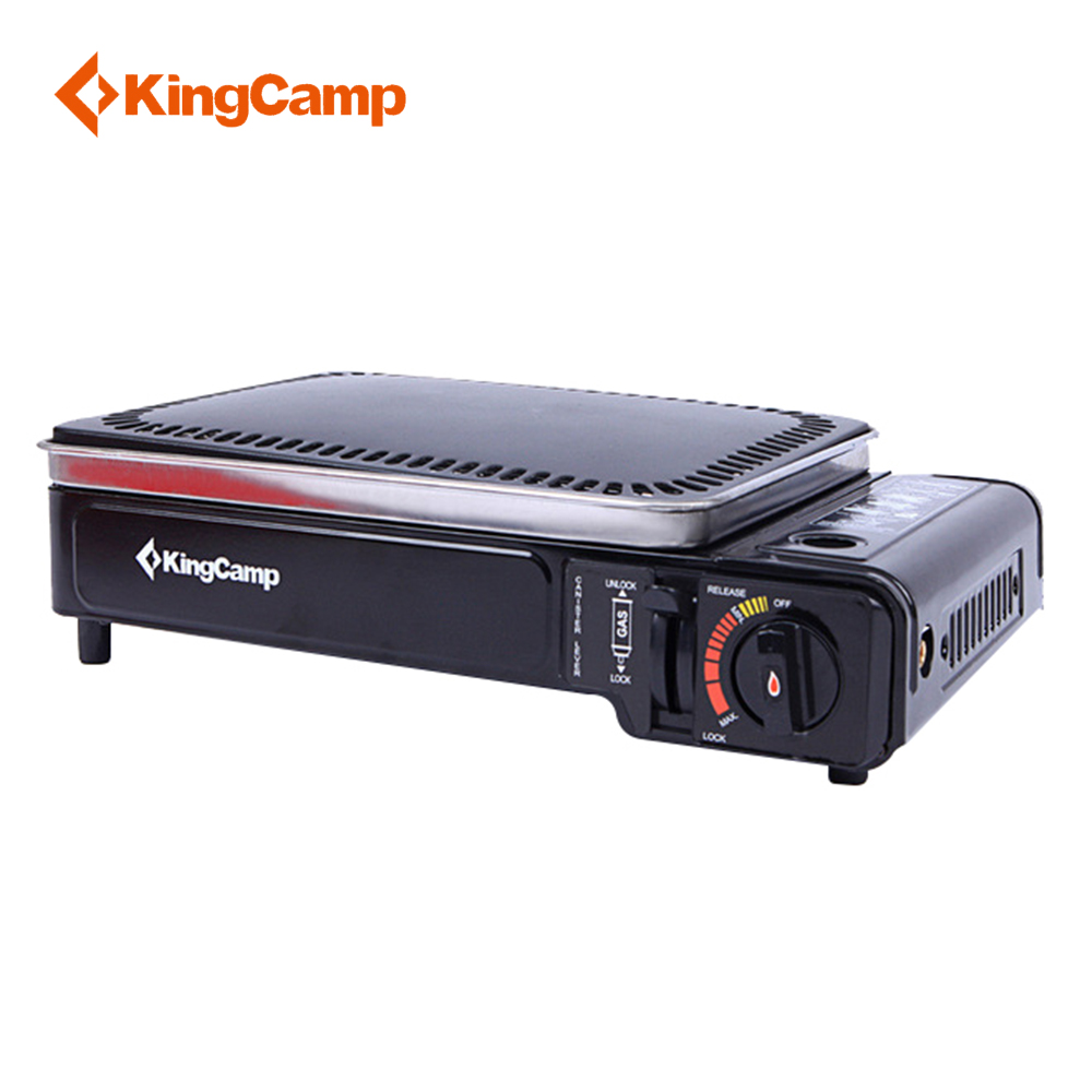 KingCamp Outdoor Stainless Steel Gas Stove Portable Windproof Picnic Cooking BBQ Lightweight Family Camping Travel Stove Gas