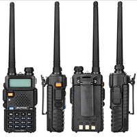 """רדיו ווקי טוקי (4 PCS) Baofeng UV5R Ham שני הדרך רדיו טוקי ווקי Dual-Band מקמ""""ש (שחור) (3)"""