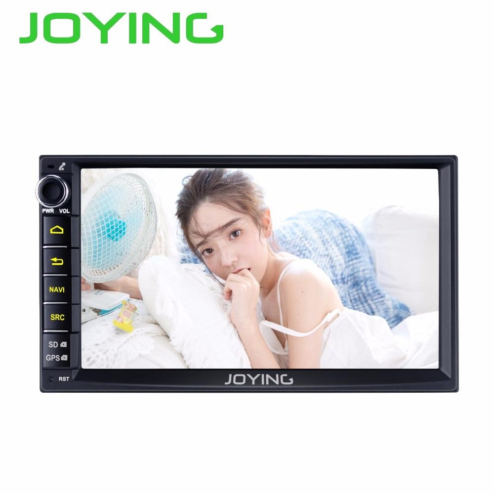 Joying 7 Double 2 Din Android 6.0 Médias Lecteur DVD Universel De Voiture Radio Stéréo Quad Core GPS Navigator Tête unité Volant