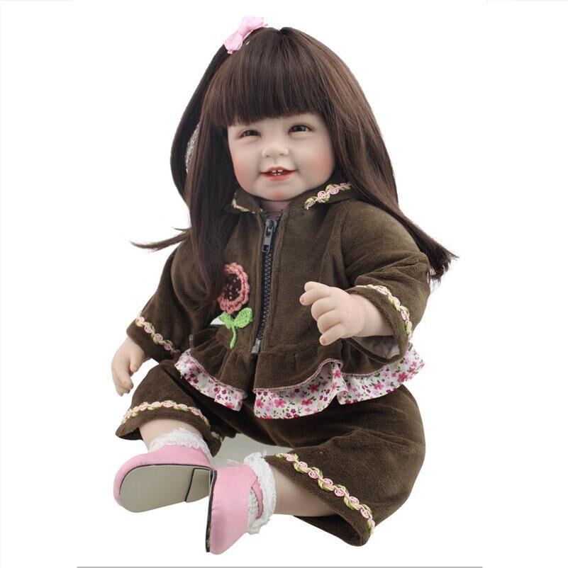 Silicone Vinyl Baby Reborn Dolls 55cm chucky Handmade Kids Princess Toys Children bebe doll reborn bonecas  Juguetes Brinquedos 22 lifelike toddler baby bonecas girl doll house vinyl adora bebe reborn menina de silicone christmas toys juguetes brinquedos