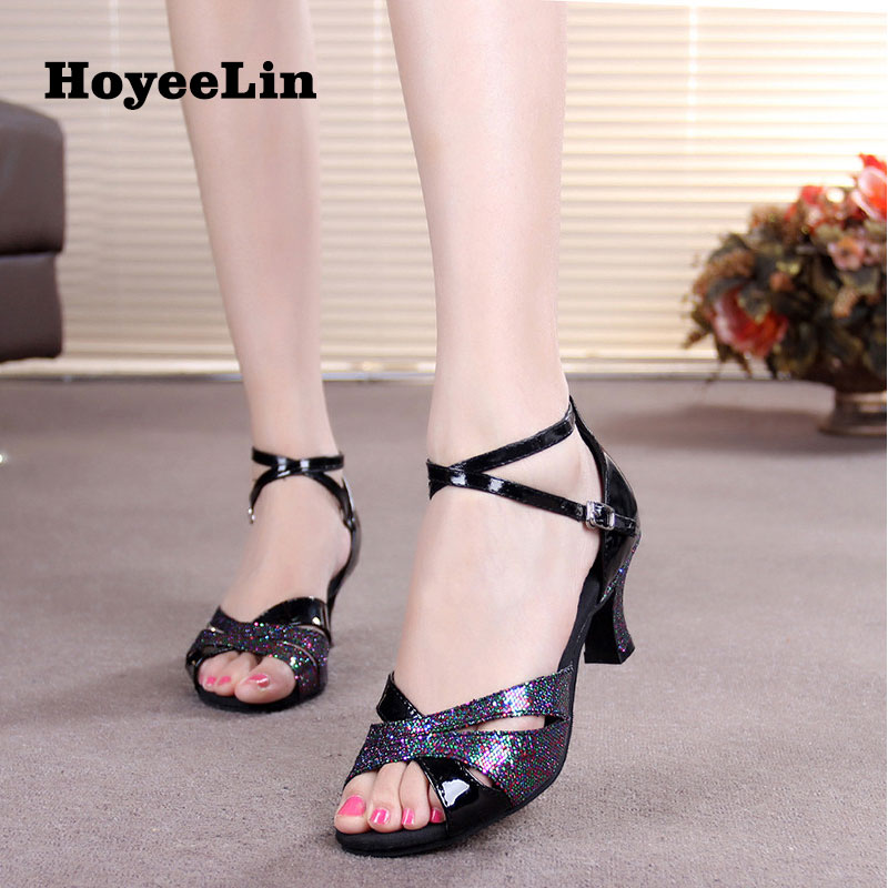 Office & School Supplies Hoyeelin Latin Shoes Women Ladies Open Toe Ballroom Party Indoor Outsole Rumba Salsa Dance Heels Dancing Sandals Shoes Relieving Rheumatism And Cold
