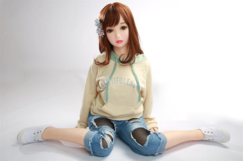 125cm whole body lifelike solid silicone sex doll rubber doll for sex Drop ship