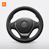 Original Xiaomi Youpin Maiwei steering wheel cover Sweat absorbent breathable Whole top layer cowhide Fine hand stitching