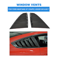 Carbon Fiber FRP Side Vent Window Trims Covers Fender Louvers Shield Trims For Ford Mustang Coupe