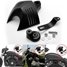 все цены на Motorcycle Horn Cover For Harley Touring Dyna Softail Sportster Electra Road King Tour Glide 1992-2018 онлайн