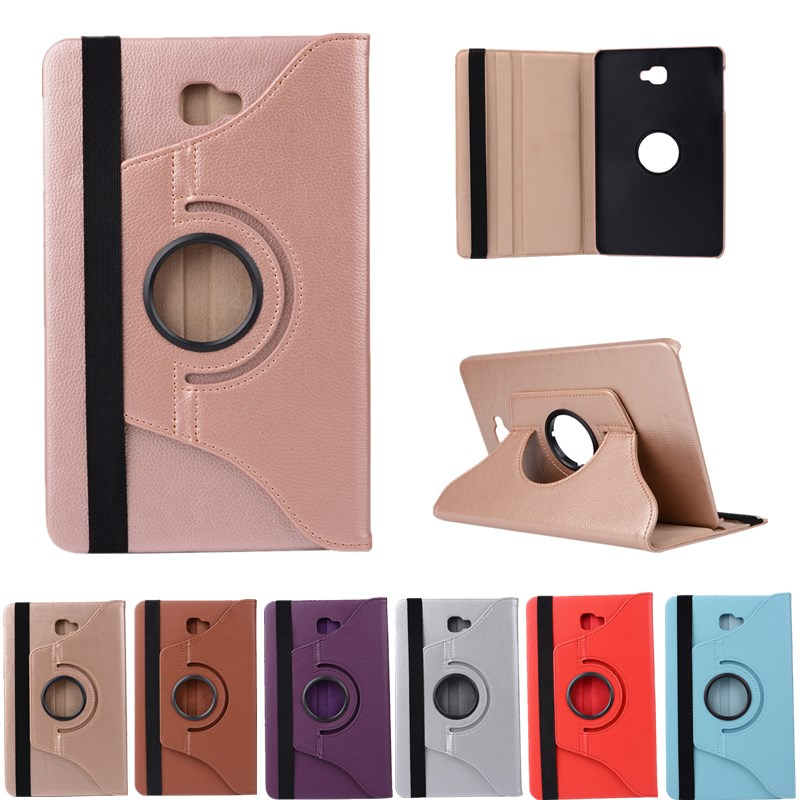 360 Rotating Case For Samsung Galaxy Tab A 10.1 2016 T580 T585 Stand Cover PU Leather Case For Samsung Tab A6 10.1 T580N T580N
