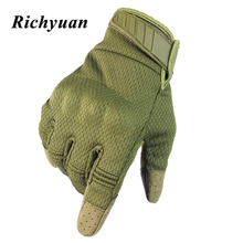 Touch Screen Motorcycle Full Finger Gloves Motocross Camouflage Breathable Protective Gear Motorbike Racing Hard Knuckle Driving