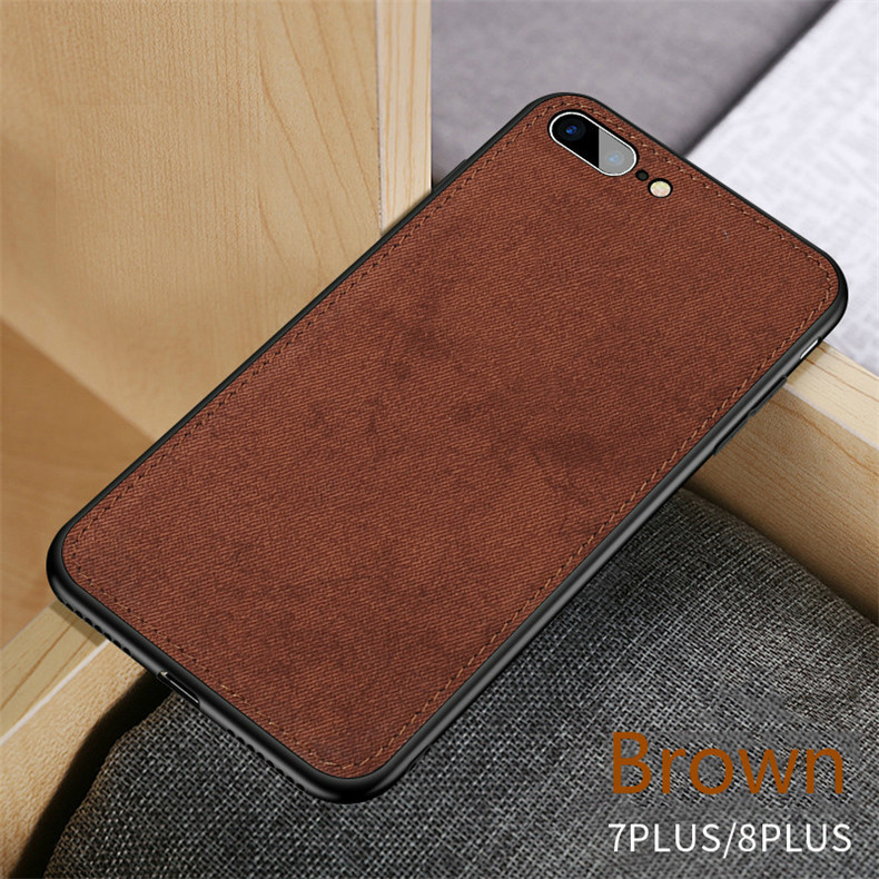 New Fashion Fabric Ultra-thin Canvas Silicon Phone Case For iphone Models Texture Soft Protective