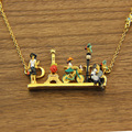 eiffel tower kissing couple bicycle girl chain necklace enamel glaze romantic female high quality jewelry