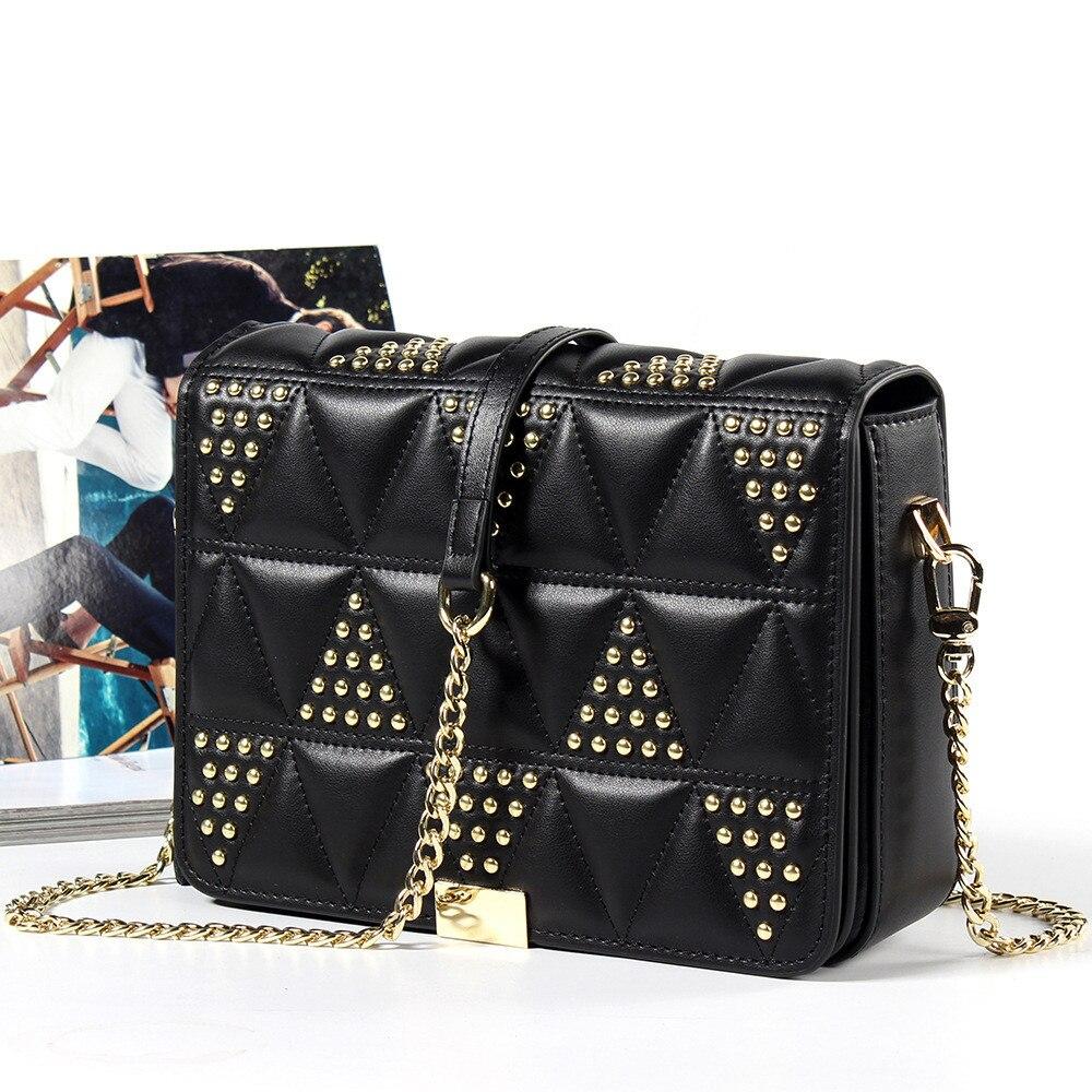 Luxury Handbags Genuine Leather Women Bag Designer Rivet Retro Clutch Tote Bag Famous Brand Shoulder Messenger Bag Vs Pink Bag все цены