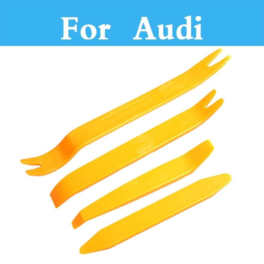 4 шт. Авто Аудио дверь клип Панель отделкой тире Радио Прай Набор инструментов автомобиля Панель удаления Инструменты для Audi q3 Q5 Q7 A3 A4 A5 A6 A7 A8
