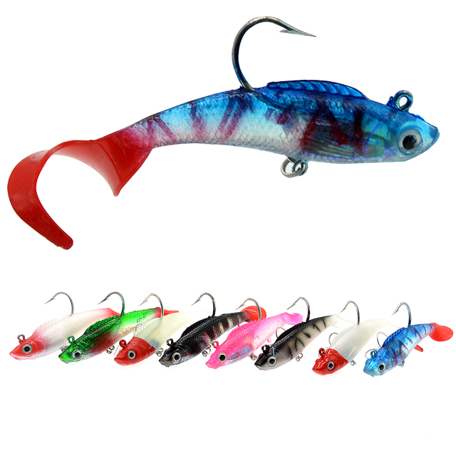 WLDSLURE Soft Silicone Lures 9g/75 Lead Head Jig Fishing Lures Softbaits Fish Single Hook Artificial Bait Supplies Tackles