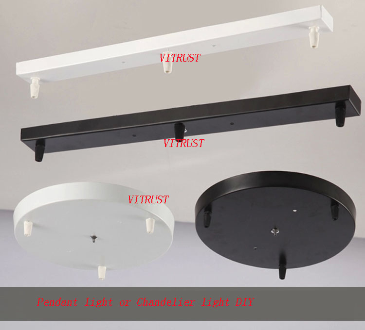 Us 15 68 38 Off Round Ceiling Plate Canopy Chandeliers Lamp Base Rectangular Diy Accessories For Rope Pendant Light In Bases