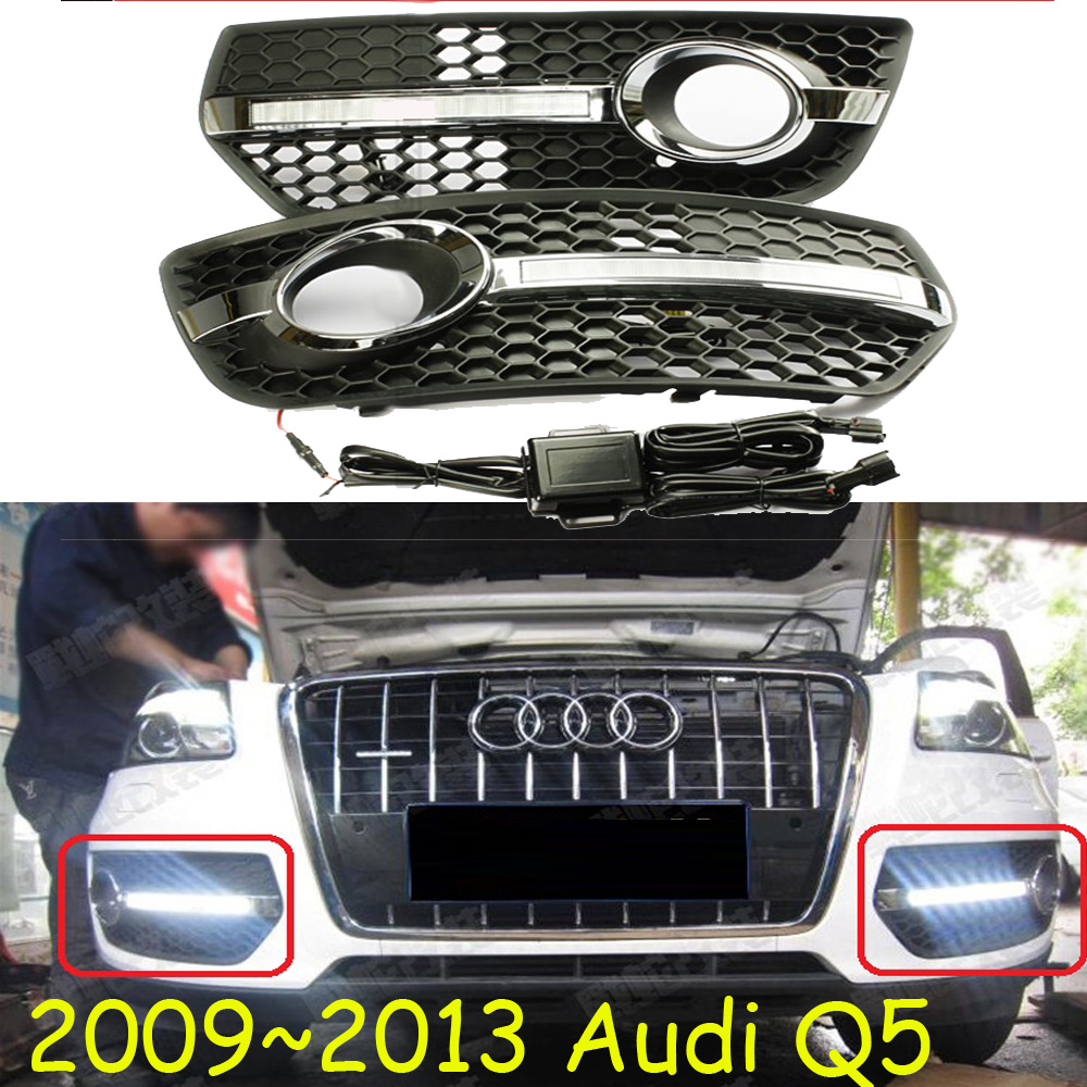Q5 day light;2009 2010 2011 2012 2013, Free ship!LED,Q5 fog light;Q 5;Quattro,allroad,RS4,RS5,R8,Cabriolet,SQ5 купить ауди q 5 2009