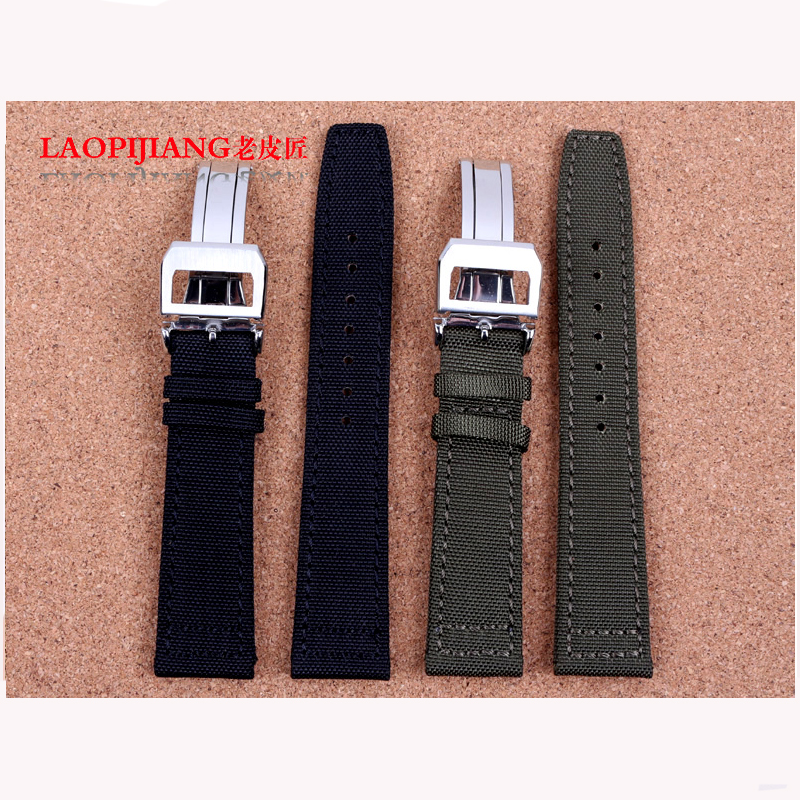 Laopijiang waterproof nylon strap watch band adapter strap Portugal male pilots 20 22mm