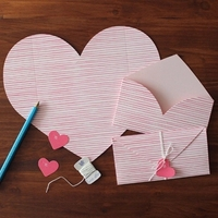 3 Sets Lot Heart Shape Pink Birthday Letter Paper Greeting Card Envelope Writing Paper For Lovers