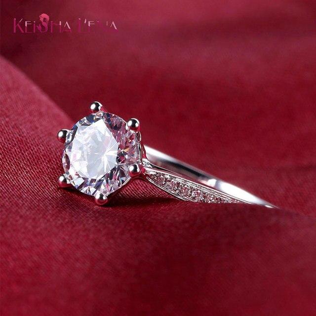 Keisha Lena Gorgeous Halo Engagement Ring Stunning Ultra Big 6 Carat