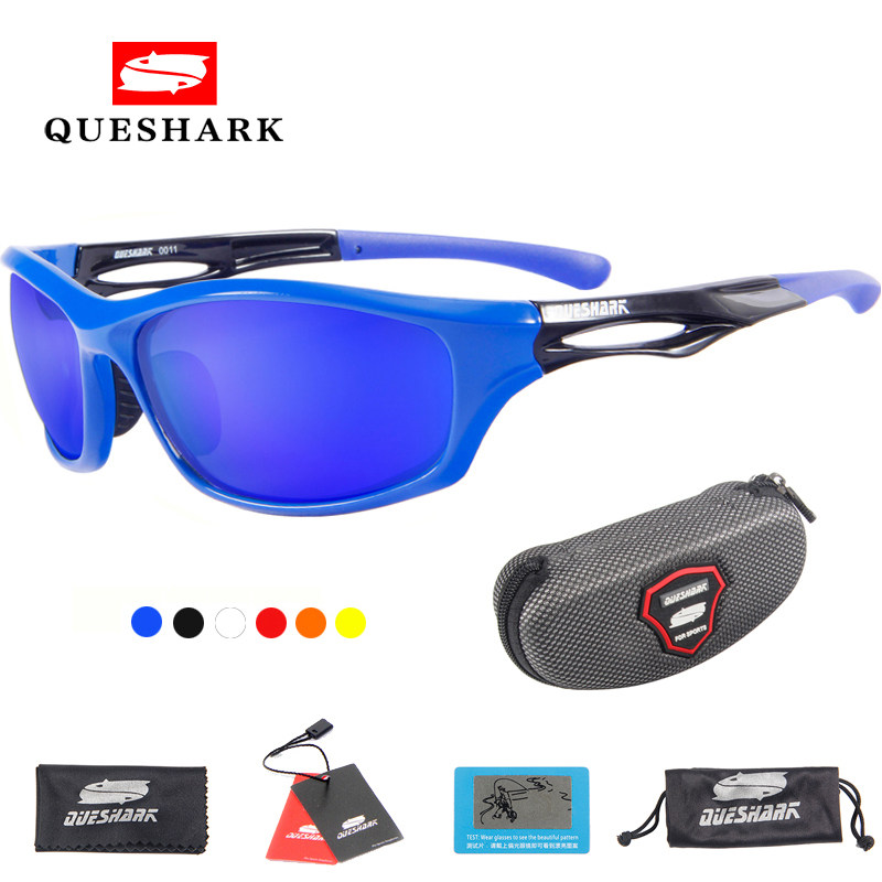 5e6a70356ac4 Queshark UV400 Polarized Sport Glasses Cycling Bike Sunglasses Bicycle  Goggles Outdoor Riding Climbing Hiking Fishing Eyewear-in Cycling Eyewear  from Sports ...
