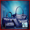 Top quality crocodile women handbags high-grade leather tote women bag with 6 sets bolsas women messenger bags value meals 10010