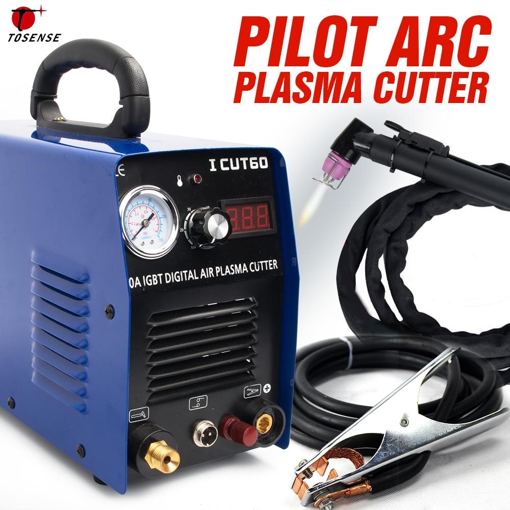 Découpeuse de Plasma de coupeur de plasma d'arc pilote de Tosense HF 220 v 60A travail avec le CNC ICUT60P