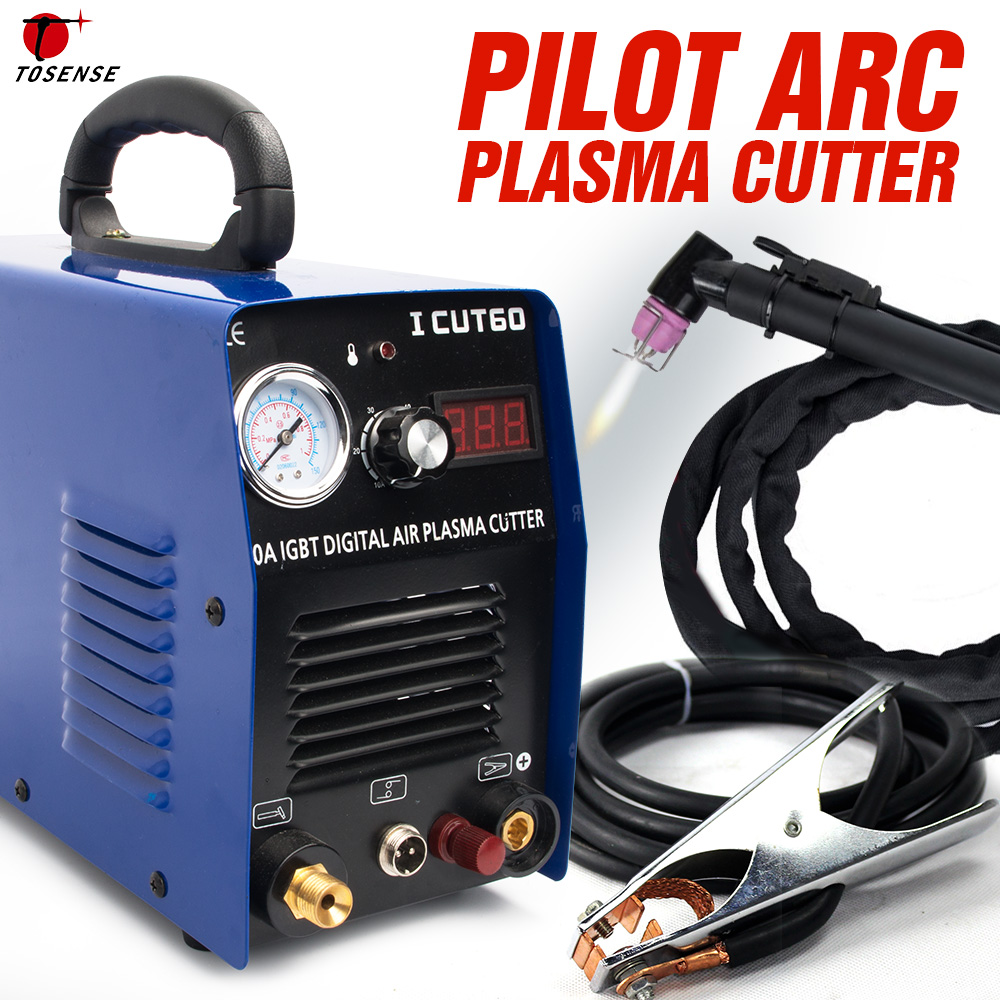 Tosense Pilot Arc Plasma Cutter plasma cutting machine HF 220v 60A work with CNC ICUT60P
