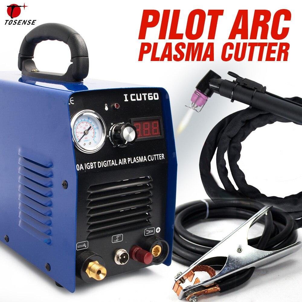 Tosense Pilot Arc Plasma Cutter станок для плазменной резки HF 220v 60A работает с ЧПУ ICUT60P
