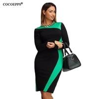 2016 Autumn Winter Dress Plus Size L 6XL Free Shipping Women Dress O Neck Long Sleeve