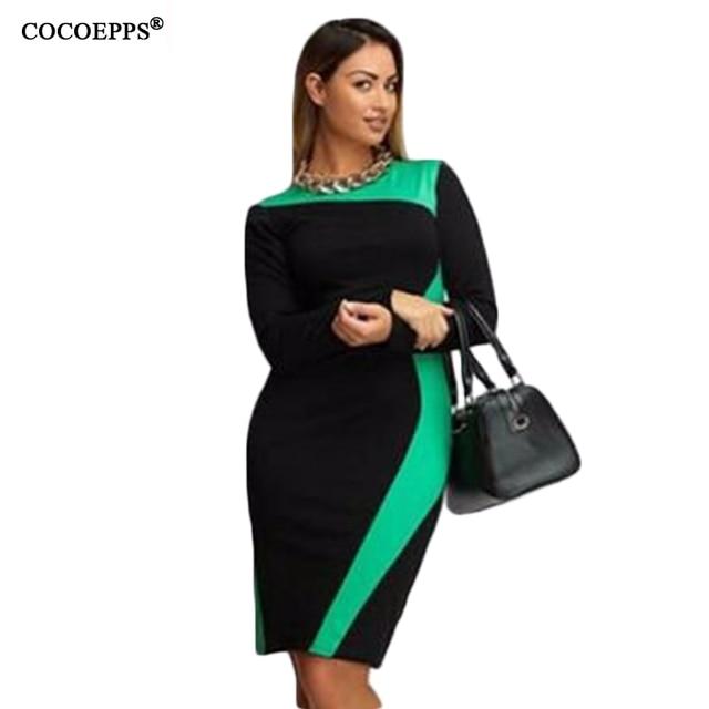 468911b1b 2018 Outono Inverno Vestido Plus Size L-6XL Frete Grátis roupas Femininas  O-long