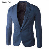 2018 Brand Clothing Blazer Men One Button Men Blazer Slim Fit Costume Homme Suit Jacket Masculine