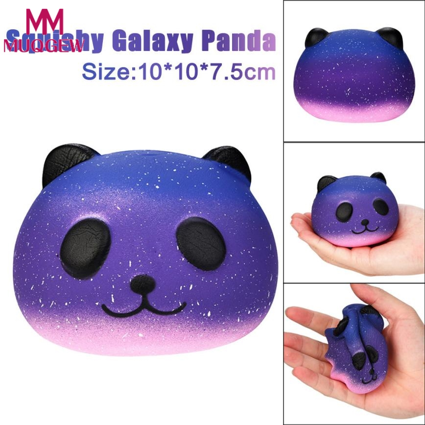 HOT Funny Kids Baby Toys 10CM Panda Cream Scented Infant Sky Blue Stress Relief Toys Squishy Slow Rising Squeeze Kids Charm Gift