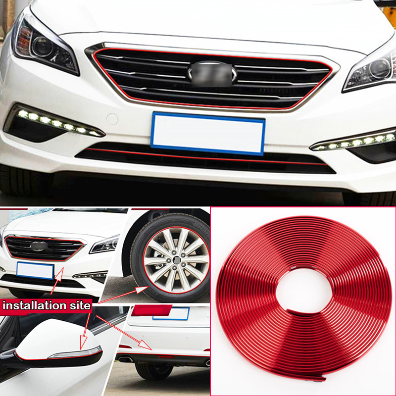 8M Car Wheel Hub Rim Edge Protector Ring Tire Strip Guard Rubber Decals For Porsche Cayenne in Styling Mouldings from Automobiles Motorcycles
