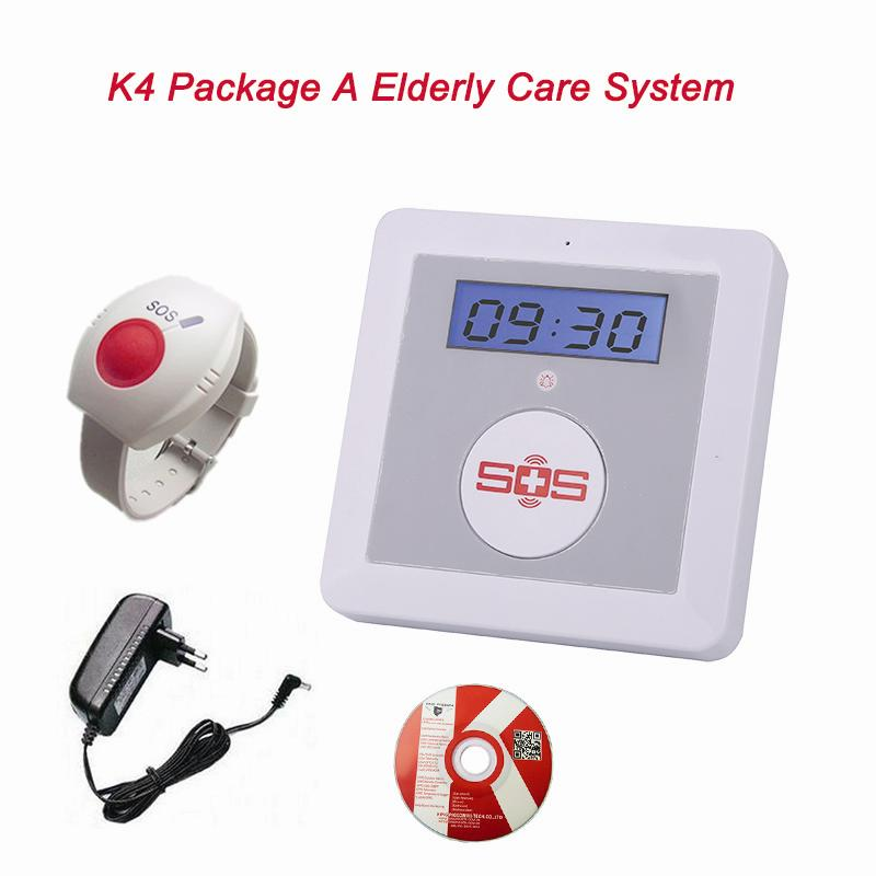 ФОТО GSM Elderly Alarm Care LCD Display SOS Emergency Call Burglar Home Smart System Security Panel Wireless Remote Control for Elder